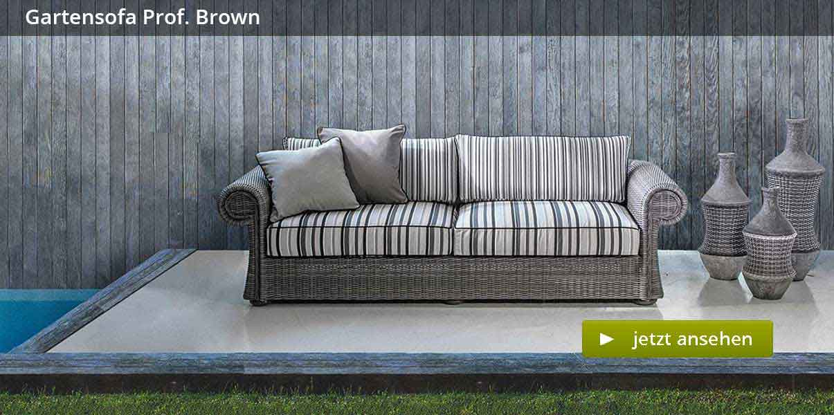Gartensofa Prof. Brown