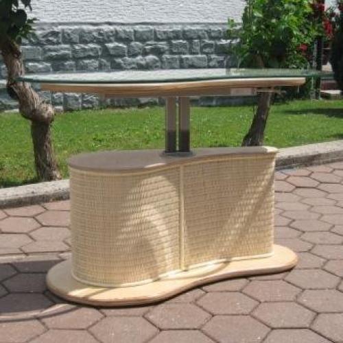 rattantisch h henverstellbar. Black Bedroom Furniture Sets. Home Design Ideas