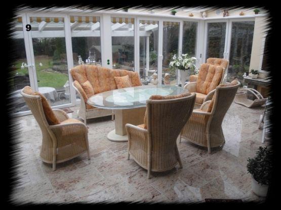 wintergarten garnitur geflochten hochwertige sitzgruppe f r wintergarten und wohnbereich. Black Bedroom Furniture Sets. Home Design Ideas