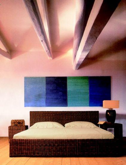 rattanbett ritz. Black Bedroom Furniture Sets. Home Design Ideas