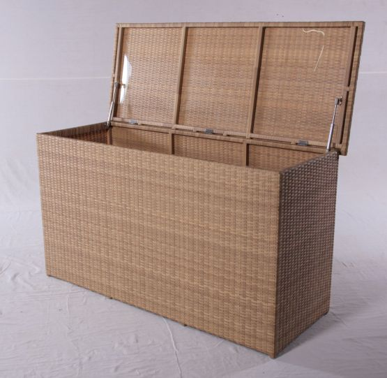 rattan kissentruhe box gartentruhe outdoor. Black Bedroom Furniture Sets. Home Design Ideas