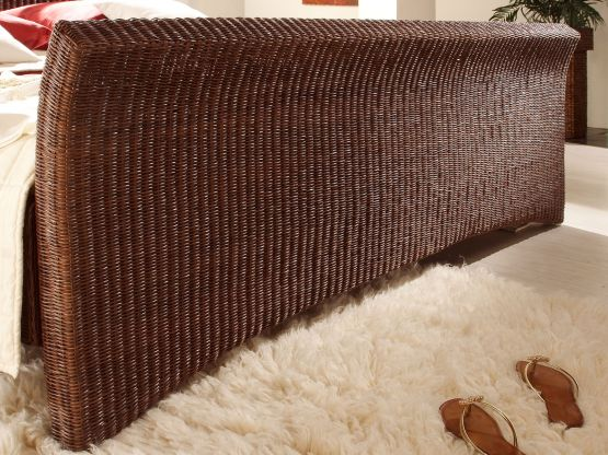 rattanbett nivada. Black Bedroom Furniture Sets. Home Design Ideas