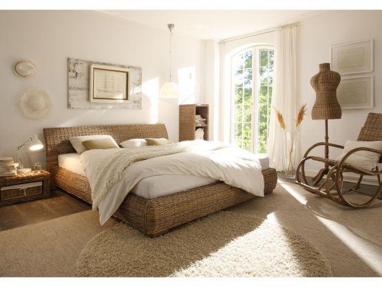 rattanbett barcelona kubu grey standardh he. Black Bedroom Furniture Sets. Home Design Ideas