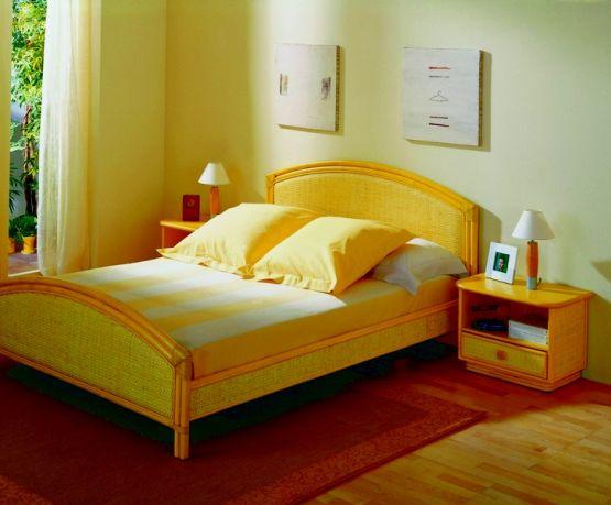 rattanbett denia. Black Bedroom Furniture Sets. Home Design Ideas