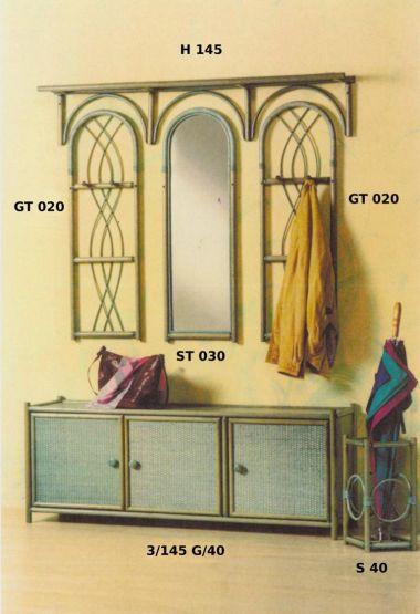 rattan garderobe made in germany. Black Bedroom Furniture Sets. Home Design Ideas