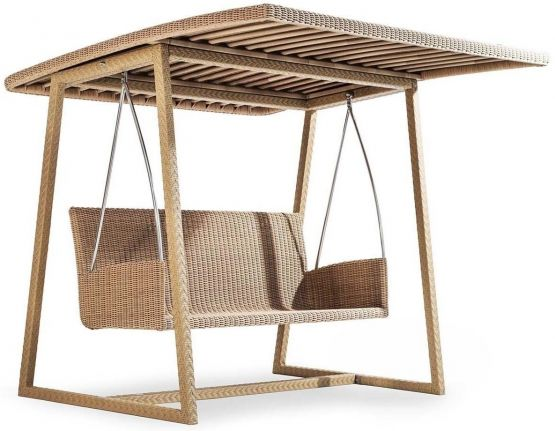 Outdoor Rattan Hollywoodschaukel Altalena