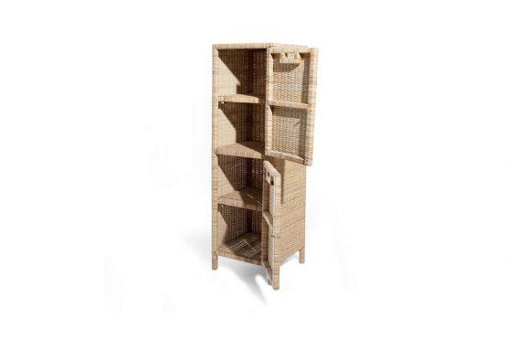 Rattanregal indoor mit 2 Türen