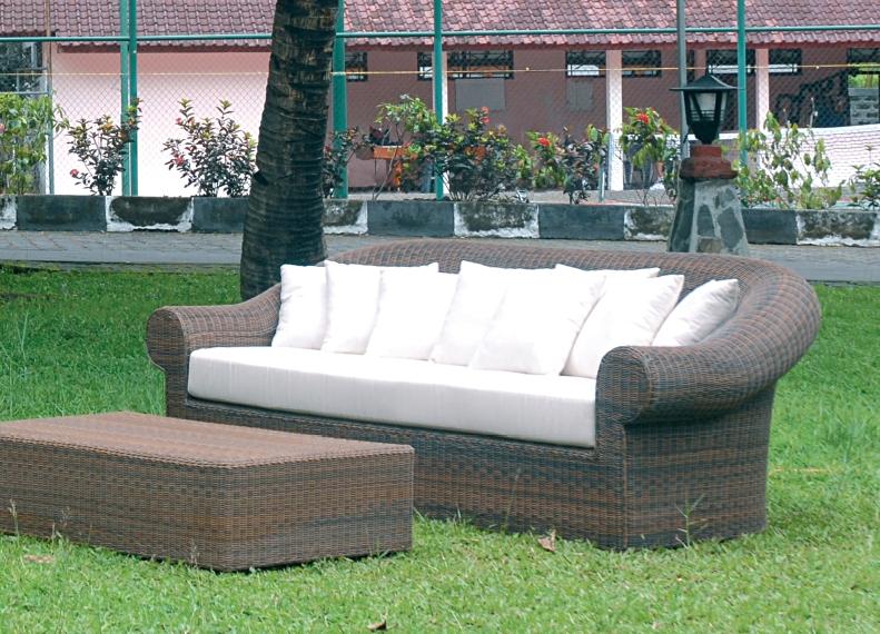 Rattan sofa outdoor  Rattansofa outdoor CR 08 - Rattan & Korbhaus
