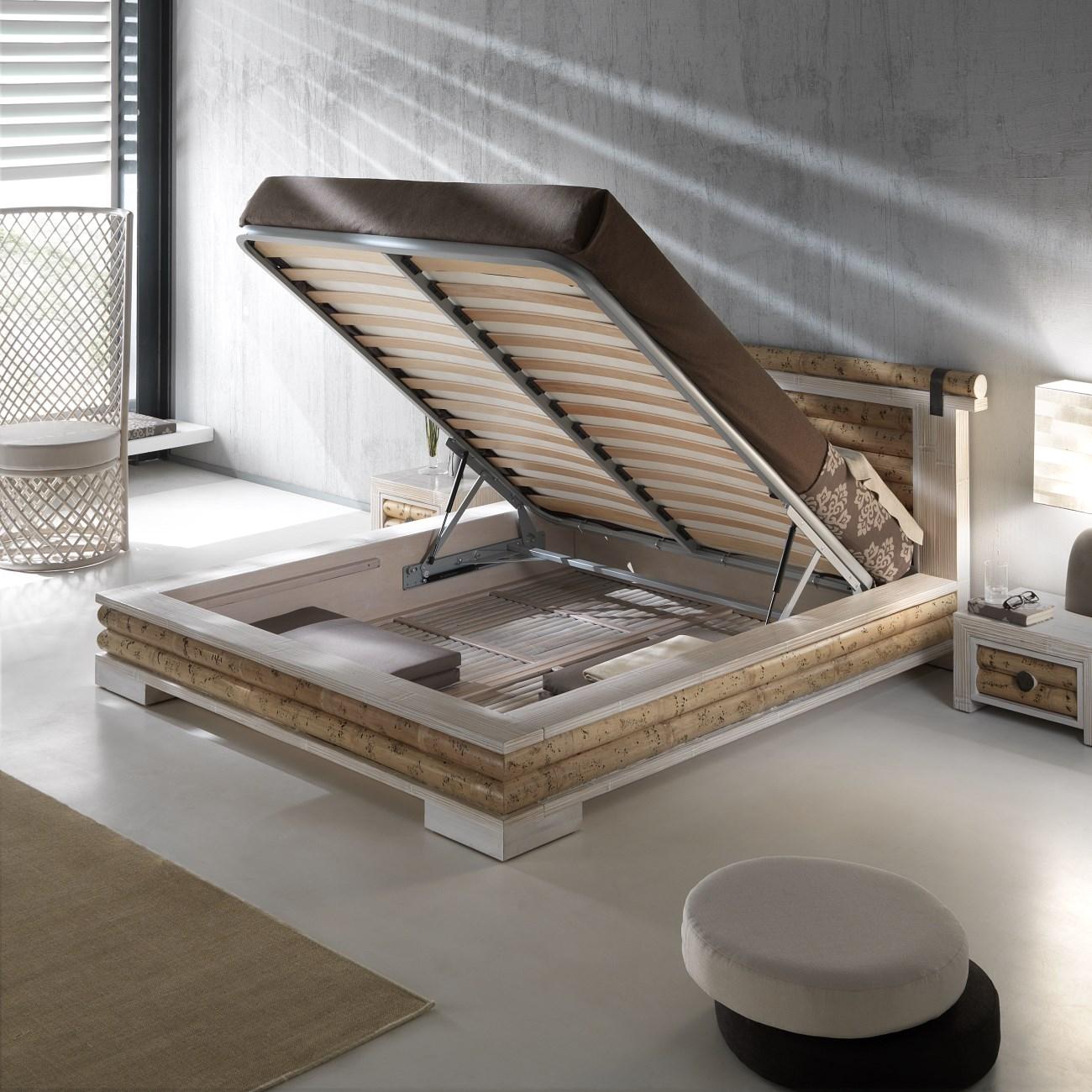 bambusbett tobago mit bettkasten rattan korbhaus. Black Bedroom Furniture Sets. Home Design Ideas