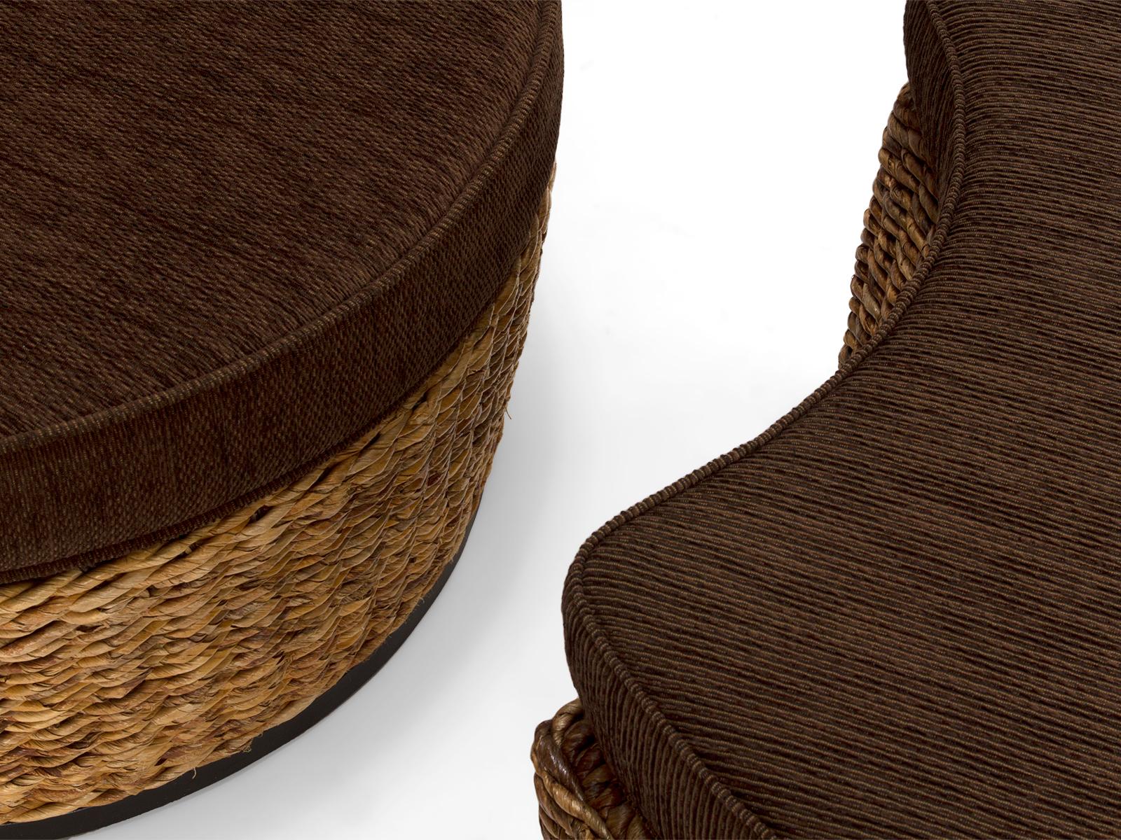 geflechtsessel banana mit hocker rattan korbhaus. Black Bedroom Furniture Sets. Home Design Ideas