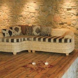 Rattansofa K 115 Sofa