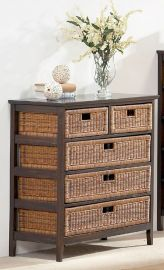 Rattanregal-Sideboard