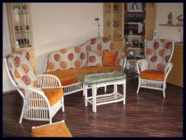 Rattangarnitur, hochwertige Sitzgruppe für Wintergarten und Wohnbereich. 2 oder 3 Sitzer