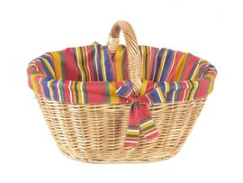 Autokorb, Textilgarnierung bunt