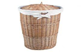 Wäschebehälter, oval aus Weide