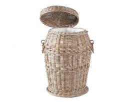 Wäschekorb bauchige Form, mit Deckel