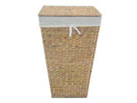 Wäschebehälter aus Wasserhyazinthe, quadratisch