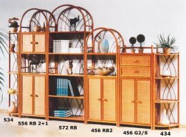 Rattan Standregale   Made in Germany