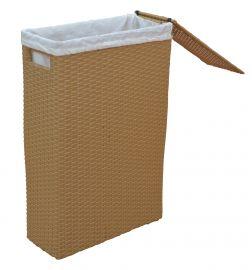 Raumspar-Wäschekorb aus Polyrattan